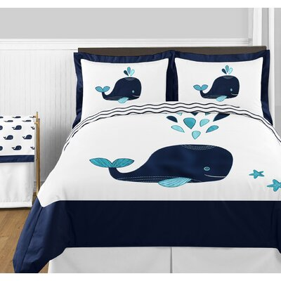Whale 3 Piece Comforter Set