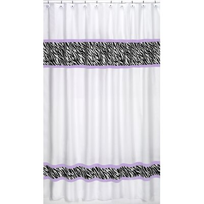 Funky Zebra Cotton Shower Curtain Color: Purple