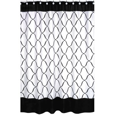 Princess Shower Curtain Color: Black and White