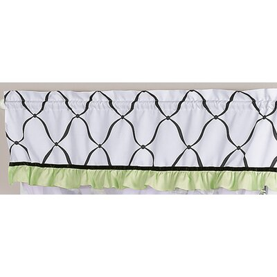 "Sweet Jojo Designs Princess 54"" Curtain Valance - Color: Black, White and Green at Sears.com"