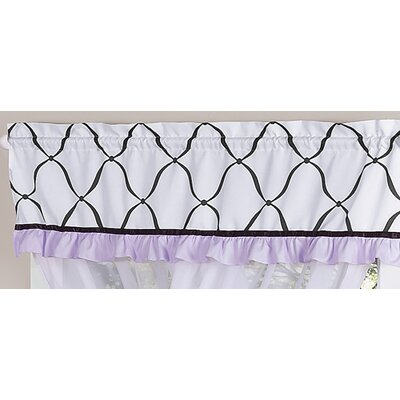 "Sweet Jojo Designs Princess 54"" Curtain Valance - Color: Black, White and Purple at Sears.com"