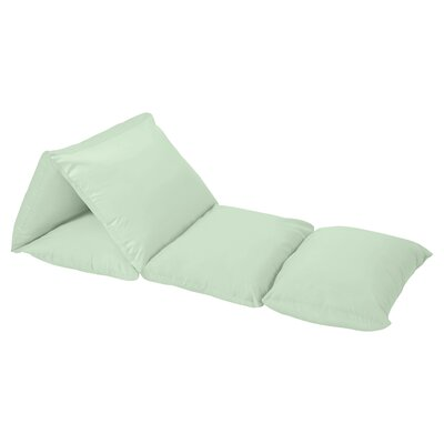 Woodsy Lounger Floor Pillow Cover Color: Mint