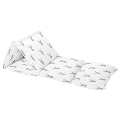 Woodland Deer Floor Pillow Lounger Cover Color: Gray/White