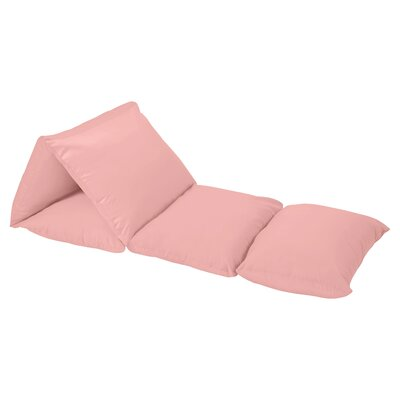 Lounger Floor Pillow Cover Color: Coral