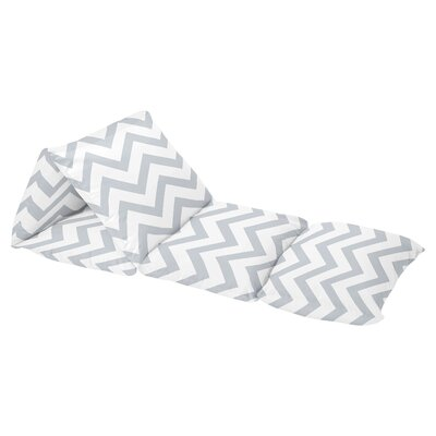 Chevron Floor Pillow Lounger Cover Color: Gray/White