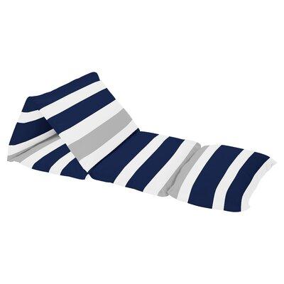 Stripe Floor Pillow Lounger Cover Color: Gray/Navy Blue/White