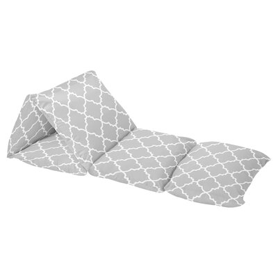 Trellis Floor Pillow Lounger Cover Color: Gray/White