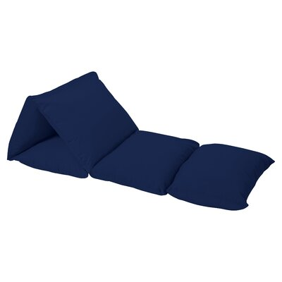 Woodsy Lounger Floor Pillow Cover Color: Navy Blue