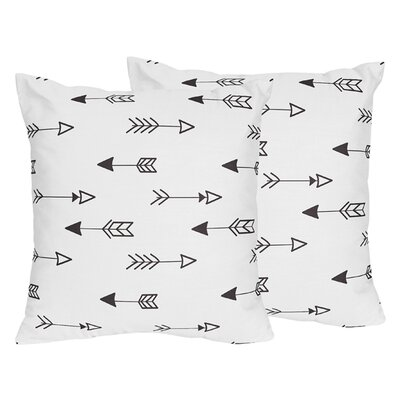 Fox Arrow Print Throw Pillow
