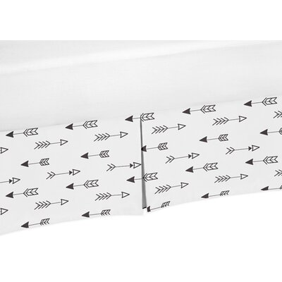 Fox Arrow Print Bed Skirt Size: Queen