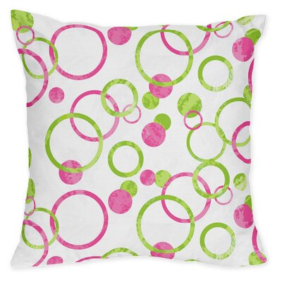 Mod Circles 100% Cotton Throw Pillow