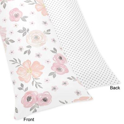 Floral Body Pillow Case