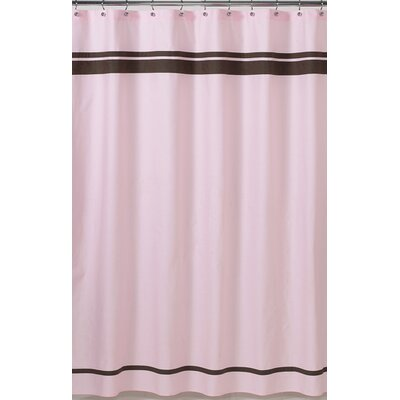 Sweet JoJo Designs Pink and Chocolate Hotel Shower Curtain - ShowerCurtain-Hotel-PK-CH