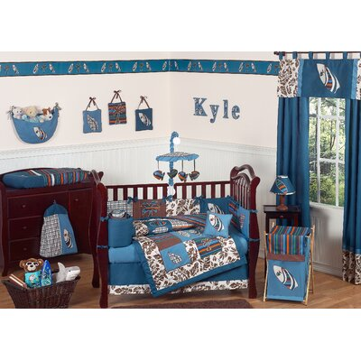 Designs Baby Bedding on Jojo Designs Surf Blue And Brown Tropical Hawaiian Boys Baby 9 Piece