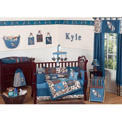Designs Baby Bedding on Jojo Designs Surf Blue And Brown Tropical Hawaiian Boys Baby 9 Piece