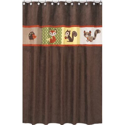Forest Friends Cotton Shower Curtain