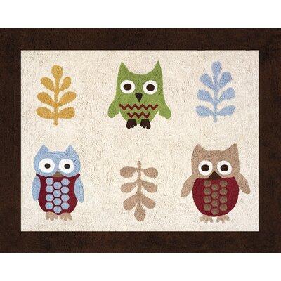 Night Owl Floor Area Rug Rug Size: 26 x 3