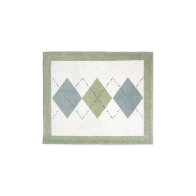 Argyle White Floor Area Rug Rug Size: 26 x 3