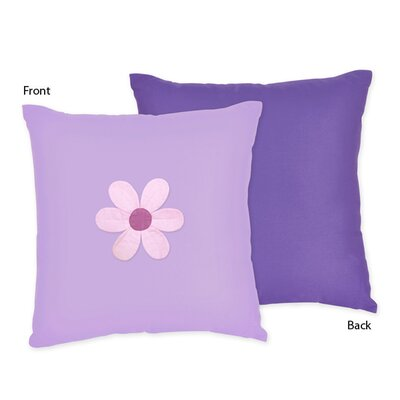 Danielles Daisies Cotton Throw Pillow
