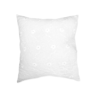 Eyelet Cotton Throw Pillow