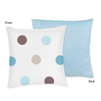 Mod Dots Cotton Throw Pillow Color: Blue