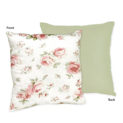 Rileys Roses Cotton Throw Pillow