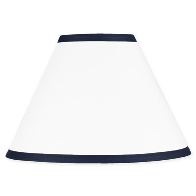 Hotel 10 Cotton Empire Lamp Shade Size: 7, Color: White and Navy