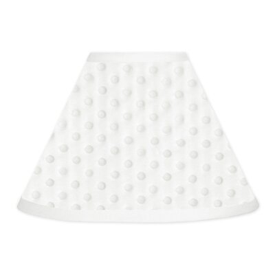 Minky Dot 10 Faux leather Empire Lamp Shade Color: White