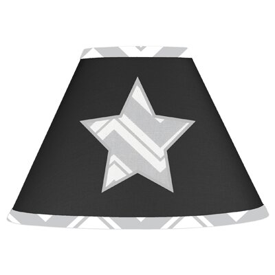 Zig Zag 7 Cotton Empire Lamp Shade Color: Grey and Black