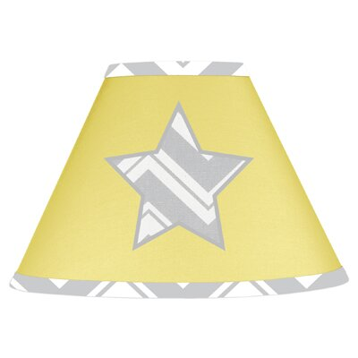 Zig Zag 7 Cotton Empire Lamp Shade Color: Grey and Yellow