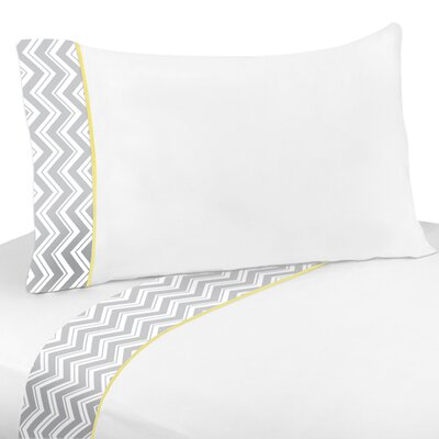 Zig Zag 4 Piece 100% Cotton Sheet Set Size: Twin