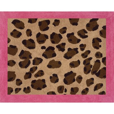 Cheetah Pink Area Rug Rug Size: Rectangle 26 x 3