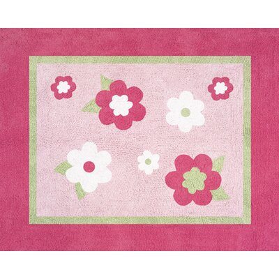 Flower Pink Area Rug Rug Size: Rectangle 26 x 3