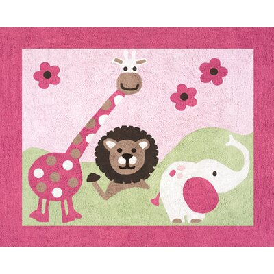 Jungle Friends Area Rug Rug Size: 26 x 3