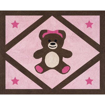 Teddy Bear Pink Area Rug Rug Size: Rectangle 26 x 3