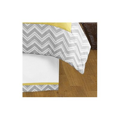 Zig Zag Queen Bed Skirt Color: Grey and Yellow