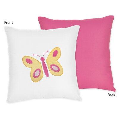 Butterfly Cotton Throw Pillow