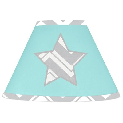 Zig Zag 7 Cotton Empire Lamp Shade Color: Grey and Turquoise