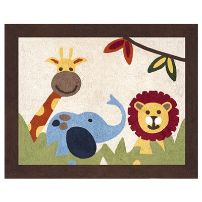 Jungle Time Machine woven Cotton Area Rug Rug Size: 26 x 3