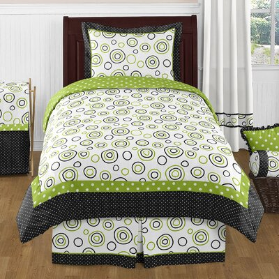 Spirodot 4 Piece 100% Cotton Sheet Set Size: Twin
