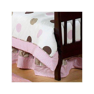 Mod Dots Pink Queen Bed Skirt