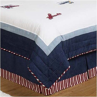 Vintage Aviator Queen Bed Skirt
