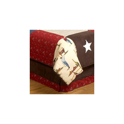 Wild West Cowboy Queen Bed Skirt