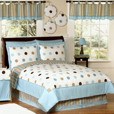 Mod Dots Blue Comforter Set Size: Full / Queen