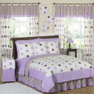 Mod Dots Purple Comforter Set Size: Twin