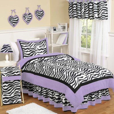 Zebra Purple Kid Bedding Comforter Collection