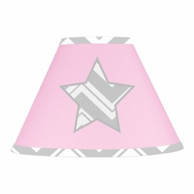 Zig Zag 7 Cotton Empire Lamp Shade Color: Grey and Pink