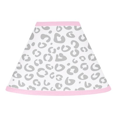 Kenya 10 Cotton Empire Lamp Shade Size: 10, Color: Pink, Gray, and White