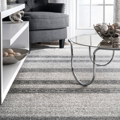 Stalnaker Gray Area Rug Rug Size: Rectangle 82 x 116
