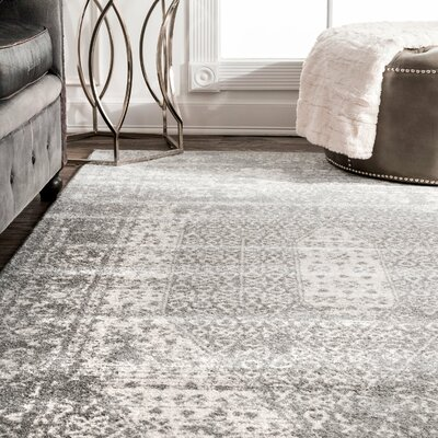 Sajish Gray Area Rug Rug Size: Rectangle 76 x 96